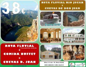 Ruta Fluvial Río Jucar + Comida Buffet + Cuevas de Don Juan