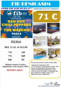 Oferta FIB Benicasim Hotel del Golf Playa