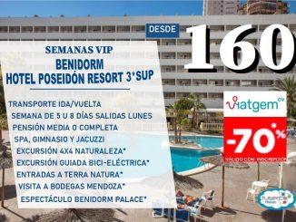 OFERTA Semana VIP Hotel Poseidon Resort Benidorm bono