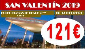 Oferta San Valentín Hotel Diamante Beach