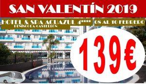 Oferta San Valentín Hotel Acuazul