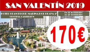 Oferta San Valentín Marina dor con bus
