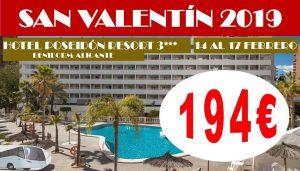 Oferta San Valentín HotelPoseidón Resort 3* con Bus