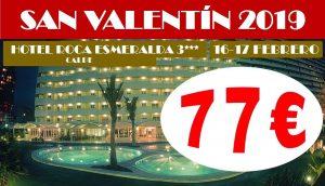 Oferta San Valentín Hotel Roca Esmeralda