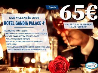 San Valentin Hotel GANDIA PALACE - TUSERCO TRAVEL