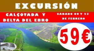Excursión Calçotada y Delta del Ebro