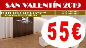 Oferta San Valentín 2019 Hotel del Golf Playa 4*