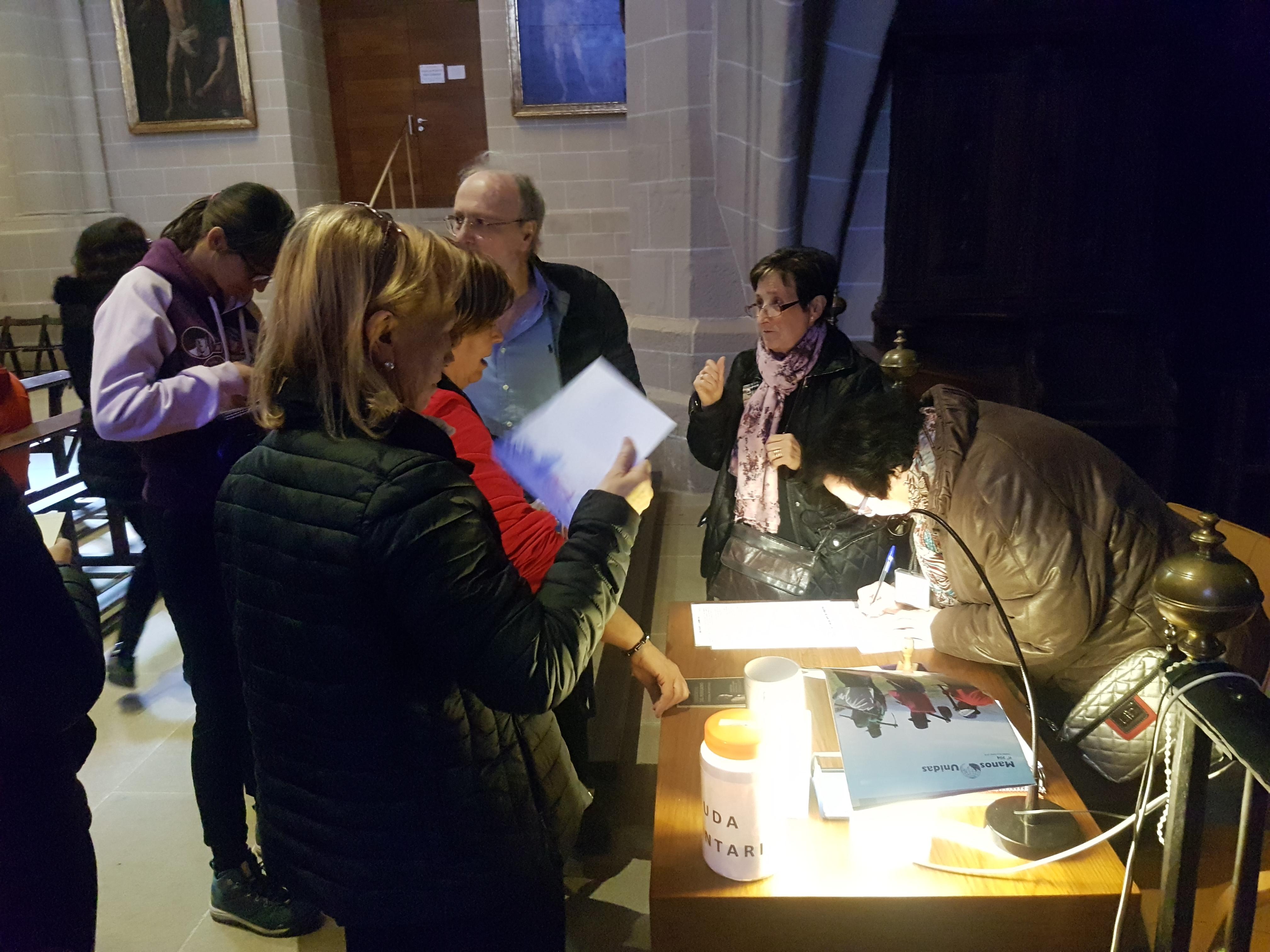 Sellando nuestras Credenciales Catedral