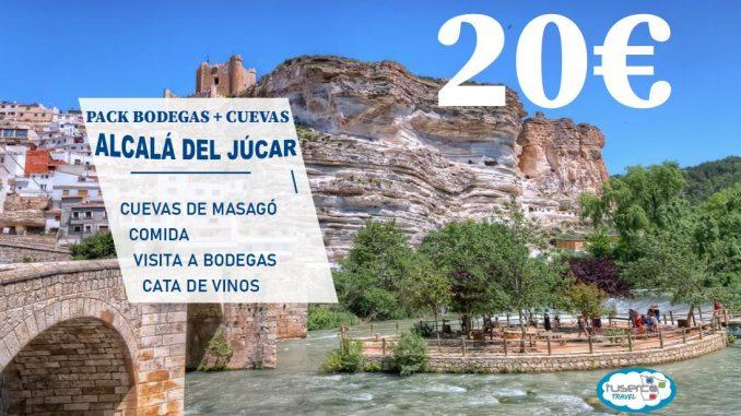 PACK ALCALÁ DEL JÚCAR Y BODEGAS Y CUEVAS
