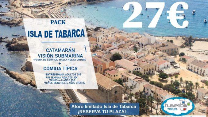 ISLA DE TABARCA PACK CATAMARAN + COMIDA TUSERCO A TU AIRE!