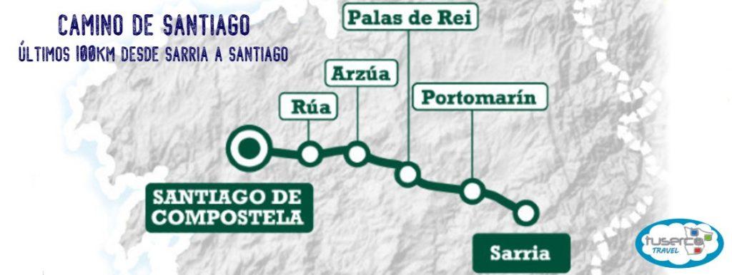 RUTA CAMINO DE SANTIAGO ULTIMOS 100KM DESDE SARRIA A SANTIAGO