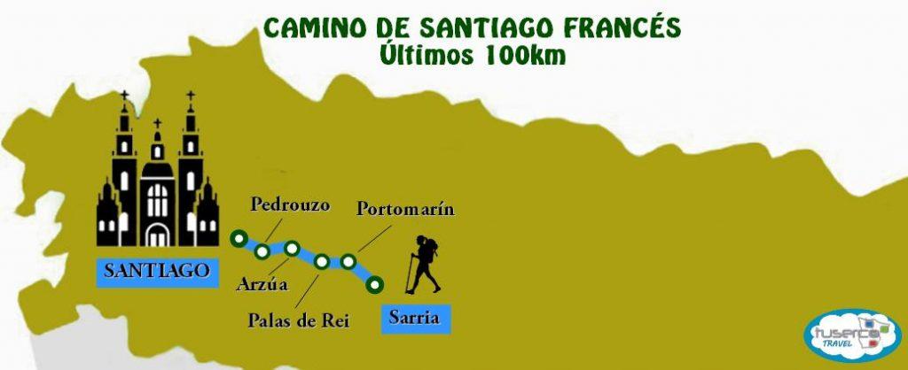 Camino de Santiago Francés últimos 100km