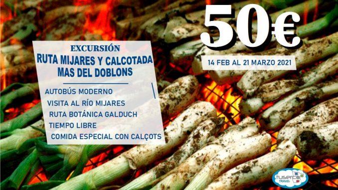 RUTA MIJARES Y CALCOTADA MAS DEL DOBLONS