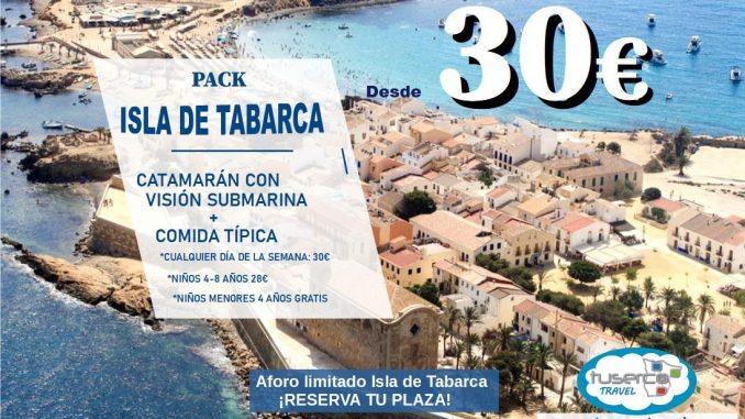 Pack Tabarca Catamarán + Comida Típica